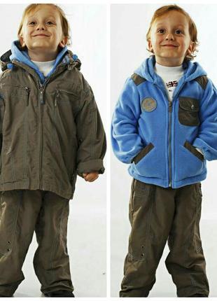 86-110 демисезонный костюм kiko для мальчика кико