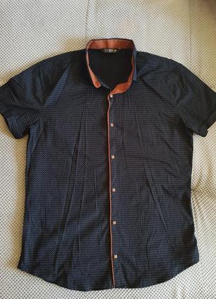 Новая темно синяя рубашка!!!оооочень стильная!!!турция