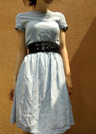 Сукня під джинс (пояс йде окремо)