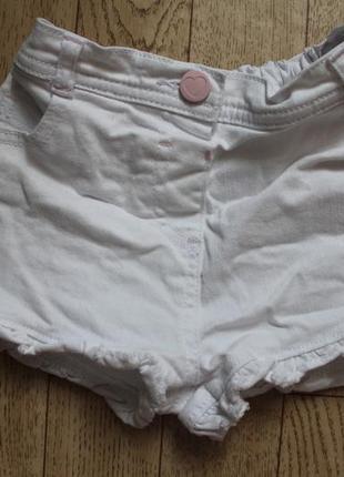 Джинсовые шорты  2-3года состояние идеальное
