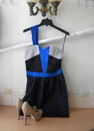 Коктейльное синее платье heawen вечернее платье