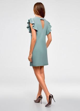 Платье трикотажное с рукавами-крылышками от oodji