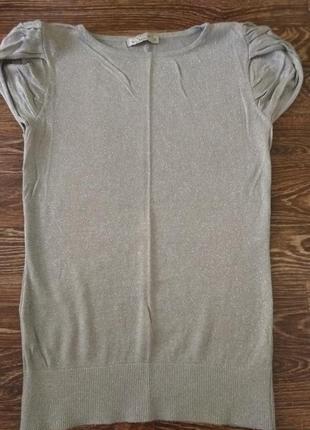 Серая футболка с люрексом sela