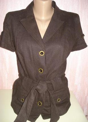 Летний пиджак жакет 55% лен