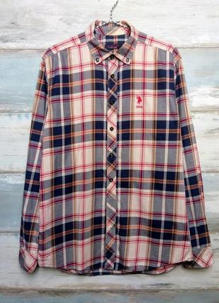 Стильная мужская рубашка в клетку u.s. polo assn