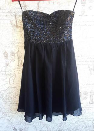 Невероятное вечернее платье с паетками   o13