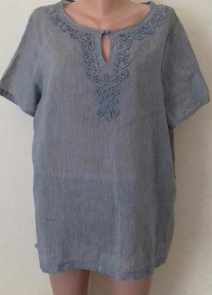 Легкая блуза в полоску большого размера