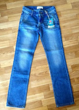 Брюки джинсы casual прямые4 фото