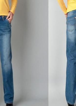 Брюки джинсы casual прямые5 фото