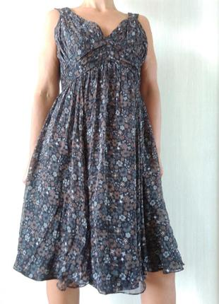 Красивое шелковое платье  zara р xl