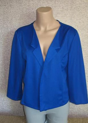 Легкая накидка ( пиджак) цвет электрик размер eur 40/ 42 италия