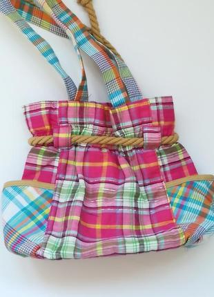 Летняя клетчатая сумка - торба