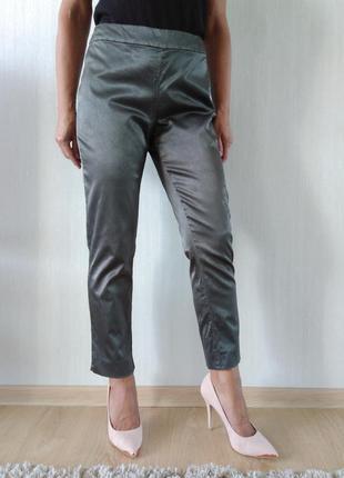 Классные стильные зауженные брюки чиносы р l