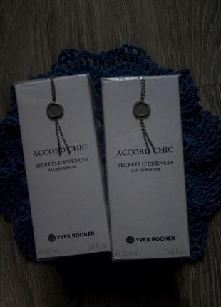 Парфюмированная вода accord chic (шик) yves rocher (ив роше), 50 мл