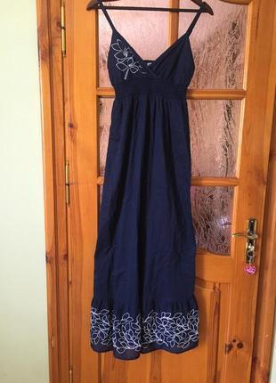 Длинное льняное платье asos