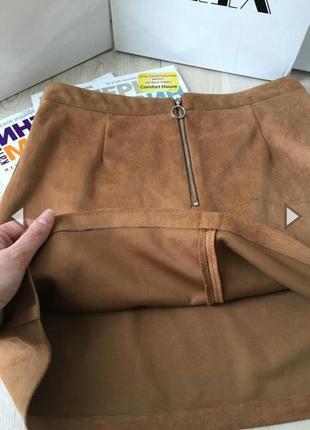 Нереальная юбка - трапеция под замшу .primark