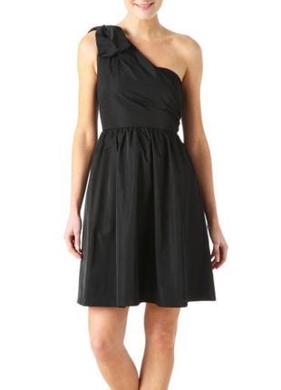 Нарядное вечернее черное платье на одно плечо распродажа остатков!