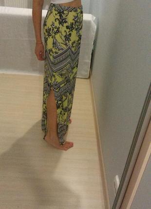 Распродажа! скидки! новая стильная юбка макси с разрезом