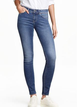 Джинсы h&m super skinny super stretch рр 34(хs), новые с биркой!