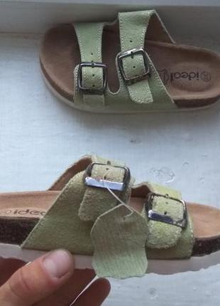 Продам детские кожаные шлепанцы ideal 30р (не birkenstock)