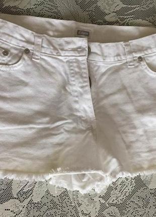 Белые шорты из денима etam