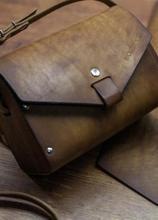 Итальнская кожа, очень красивая сумка