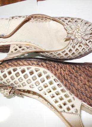 Туфли-босоножки летние. кожа 100%