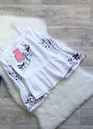 Вышиванка/блуза с открытыми плечами