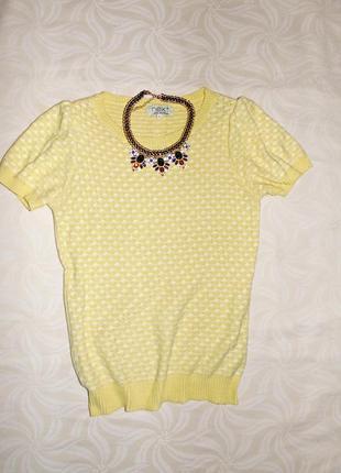 Желтенькая вязаная блузочка next блуза блузка размер l