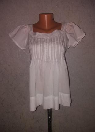 Лёгенькая батистовая блуза очень красивая с-м