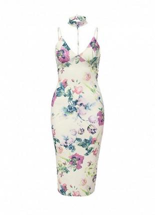 Платье в цветочный принт edge street asos