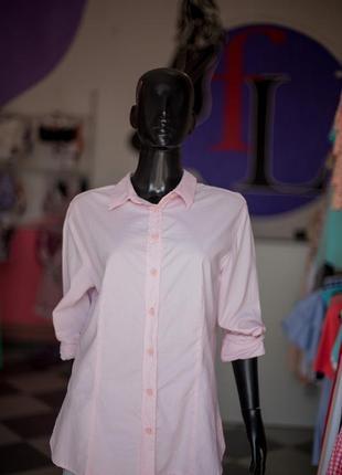 Розовая хлопковая рубашка от gloria jeans