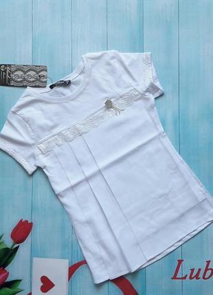 Блуза .короткий рукав.с шифоном