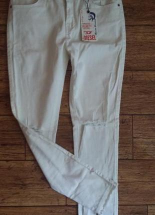Крутые джинсы diesel с прорезями /самая новая коллекция