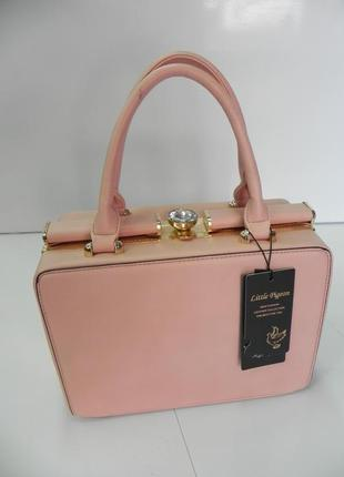 Нарядная сумка модный цвет пудра