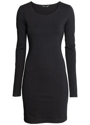 Базовое черное платье h&m