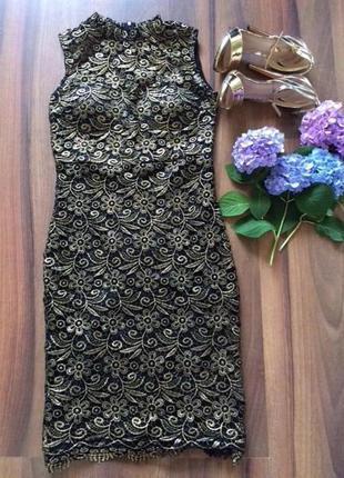 Кружевное платье club l