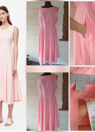 Фирменное, натуральное, базовое платье миди с карманами, супер качество!!! 100% котон