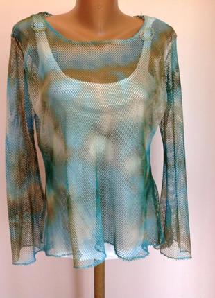 Итальянская блуза- сеточка. /s- xl/brend floyd
