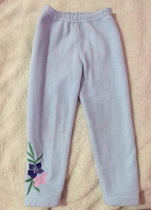 Тёплые флисовые штанишки