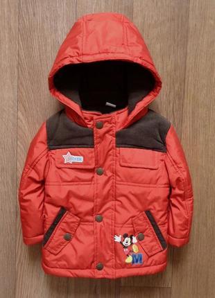 Куртка 9 - 12мес, disney, длина 38см, ширина 32см, рукав 26см.