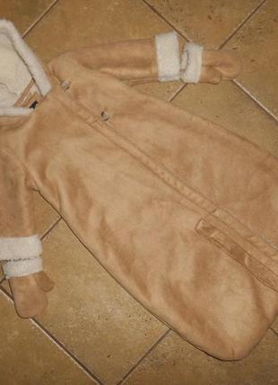 Комбинезон-трансформер теплый зимний gap, 6-12 мес, 68-80 см, оригинал