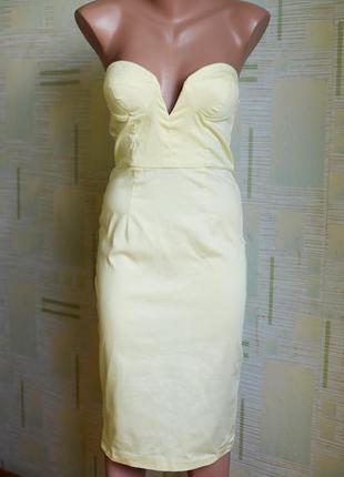 Платье миди с красивой чашкой