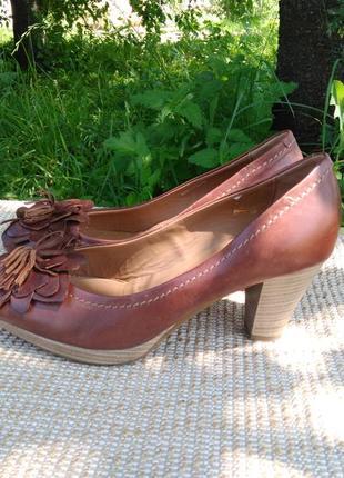 Кожаные туфли, laura di sarpi freeflex .размер 37-й.