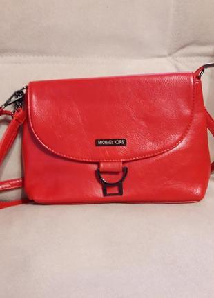 Женская сумка- клатч ультра модного красного цвета