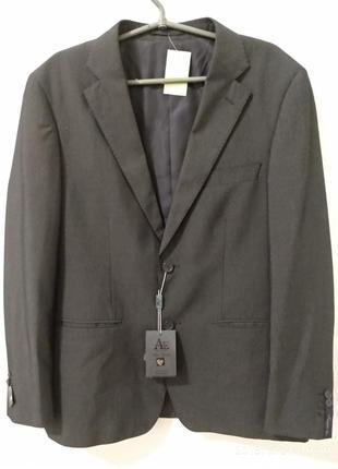 Серый класический мужской пиджак andrea ermanni