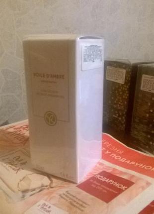 Парфюмированная вода voile d'ambre (амбровая вуаль) yves rocher (ив роше), 50 мл