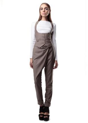 Стильные брюки tago (в наличии в 2 цветах: хаки и серый)