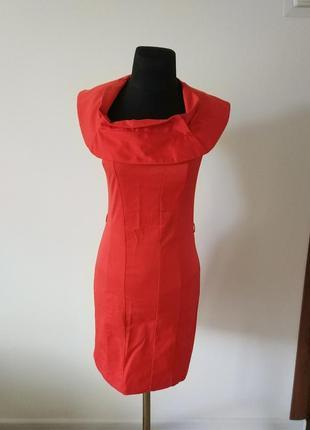 Коралловое платье по фигуре say
