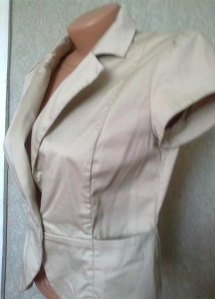 Пиджак*жакет* коттоновый с коротким рукавом от h&m